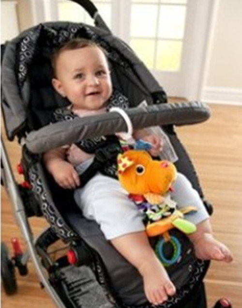 """(5pcs/pack) Wholesale Brand New """"Orange Small Dog"""" Baby Capsule/Stroller/Crib/Bed Hanging Baby Playing Rattles Mobiles Toy(China (Mainland))"""
