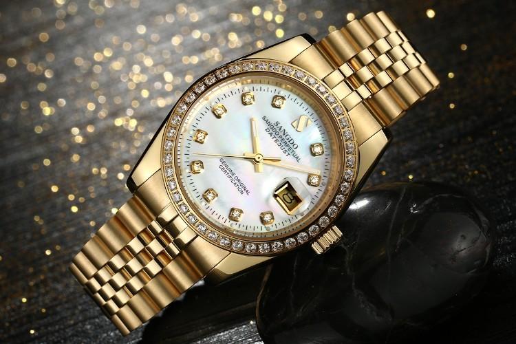 38 ММ SANGDO мужские часы Автоматическая Self-ветер движения Высокое качество Роскошные Механические часы 327DDD