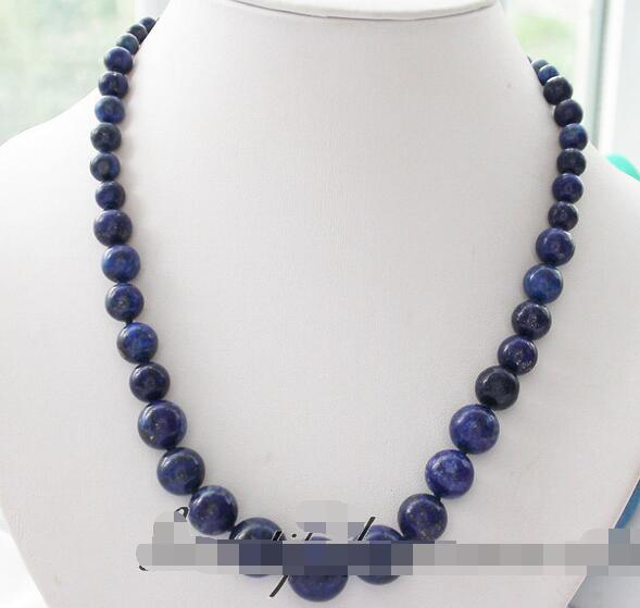 song voge gem nanJ1662 blue nature round Lapis Lazuli tower NECKLACE(China (Mainland))