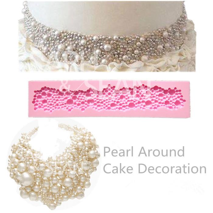 M0843 Pearl Around fondant cake molds decoration for the kitchen baking Sugarcraft Decoration Tool(China (Mainland))
