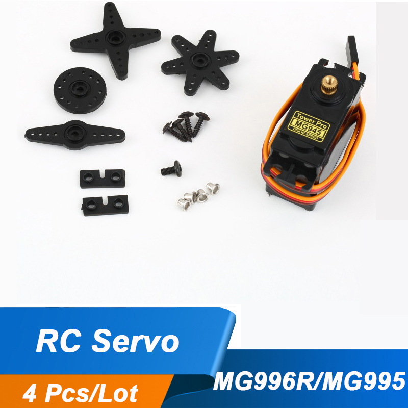 4Pcs/lot RC servo MG996R Upgraded MG945 MG995 digital servo metal gear for RC Model H309 Stable ShockProof Free Shipping(China (Mainland))