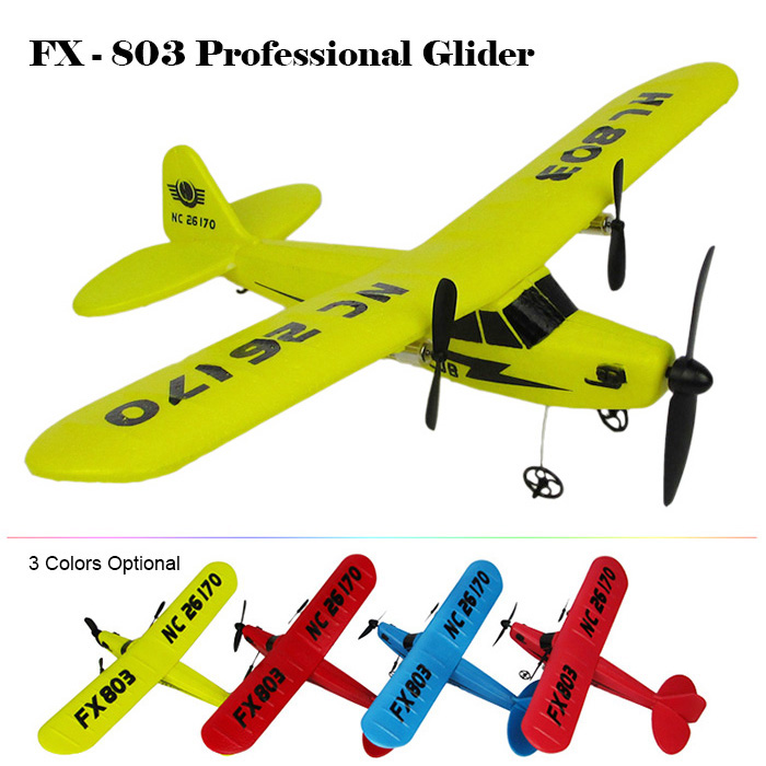 2016 Retail Packaging Professional Glider Flybear FX-803 2.4G 2CH Front-pull Double Propeller Ready-to-fly Parkflyers RC Biplane(China (Mainland))