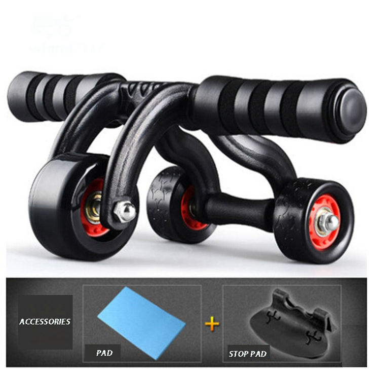 New Arrival Exercise Wheel High Quality More Professional New Shape 3 Wheels AB Roller for Fitness Equipment abdominal exersice