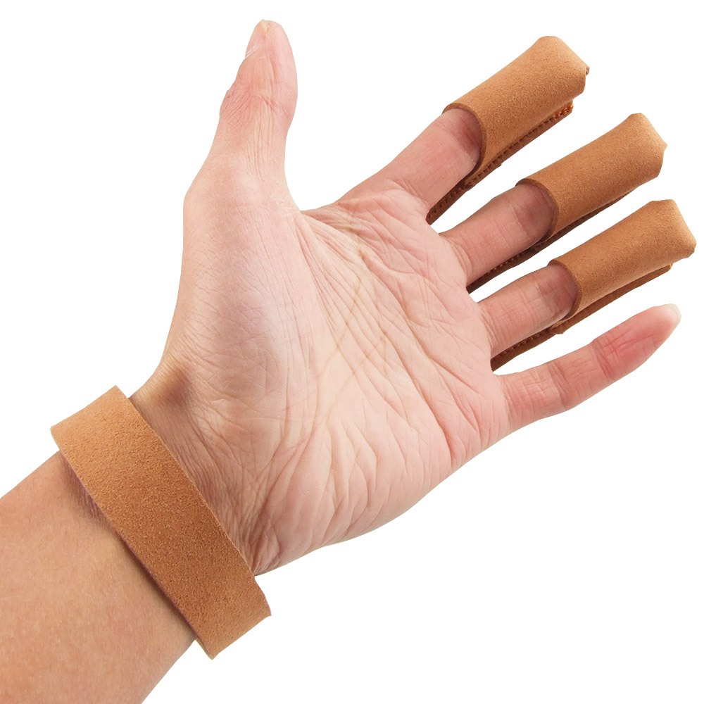 Suede Leather 3 Finger Archery Protect Glove Archery Glove Shooting Glove Three Finger Design for Hunting Compound Recurve Bow(China (Mainland))