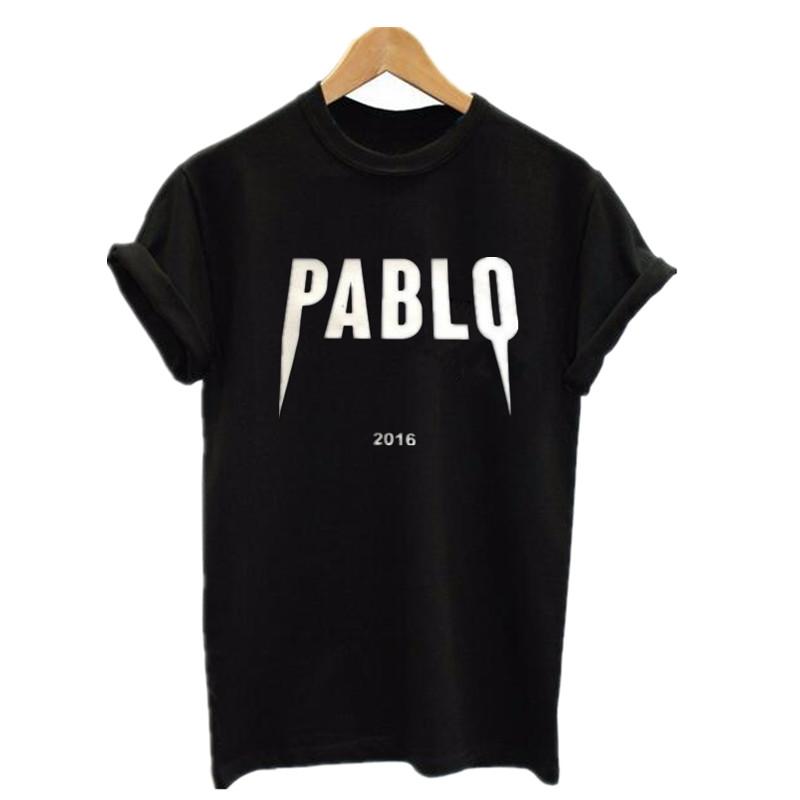 Summer 2016 Pablo T Shirt Yeezy Kanye West Short Sleeve T