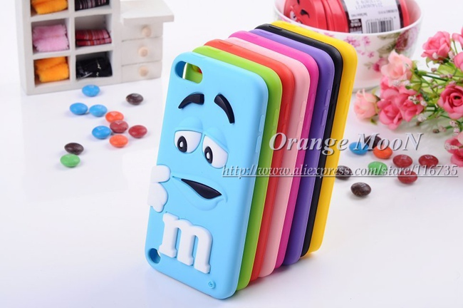 3D Cartoon Cute Design Case For Apple iPod Touch 5 5th Colorful Soft Silicon Skin Back Cover Shell(China (Mainland))