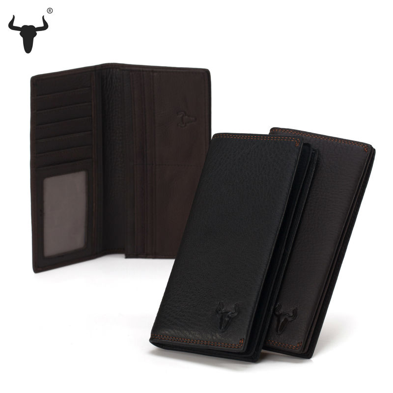 Men Genuine Leather Wallet Coin Purse Bag Long Male Soft Leather Business Card id Holders High-Quality Handmade Suit Wallets(China (Mainland))