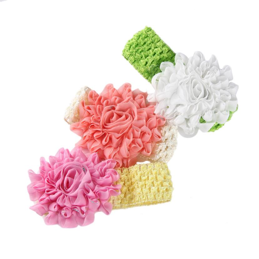 Stylish 1 pcs Lovely Girls Baby Headbands Flower Hair Accessories Hair Band for 6month to 3 years Infant Nice Gifts(China (Mainland))