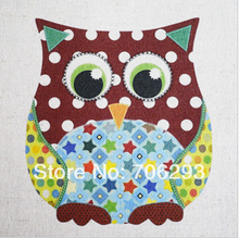 Buy Hand dyed Cotton Linen Printed Quilt Fabric For DIY Sewing Patchwork Home Textile Decor 30x30cm Cute Owl for $9.39 in AliExpress store