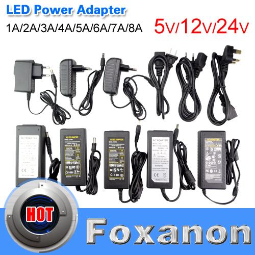 DC 5V 12V 24V 1A 2A 3A 4A 5A 6A 7A 8A Switch Power Supply Adapter Transformer 110V -240V To DC5V DC12V DC24V LED Strip RGB 5050(China (Mainland))