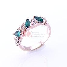 LQ Elegant Korea Design Jewelry Fashion Emerald Crystal Finger Rings for Women Set Austrian Crystal Stone make Triangle Shape(China (Mainland))