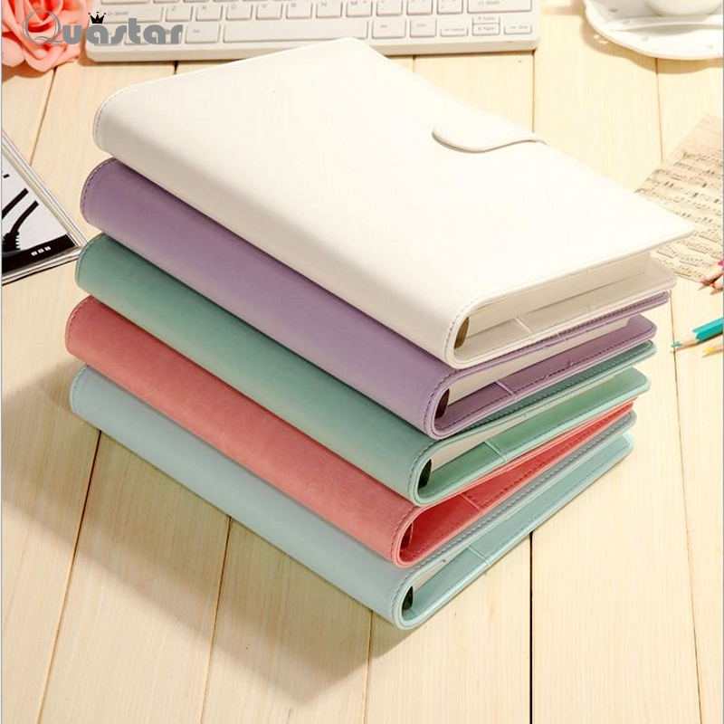 Macaron leather spiral notebook diary/week planner/agenda organizer Cute ring stationery binder A5 Loose-leaf notebook 100 pages(China (Mainland))