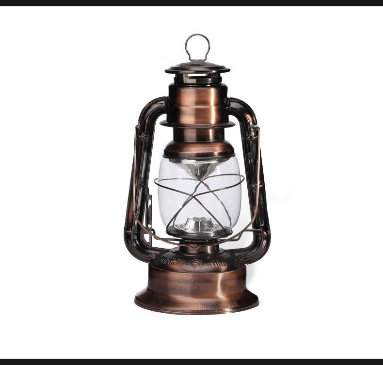 25cmretro Led Gift Lamp Kerosene Lamp Outdoor Camping Tent Lights Emergency Light Low