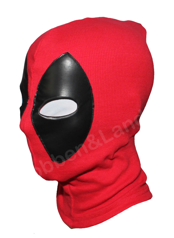 PU Leather Deadpool Masks Superhero Balaclava Halloween Cosplay Costume X-men Hats Headgear Arrow Party Neck Hood Full Face Mask