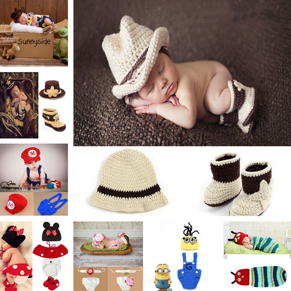 Gentleman Cowboy hat and Shoe set Handmade Baby Photography Props baby Caps and Shoe baby summer hat photoshoot MZS-15066-J(China (Mainland))