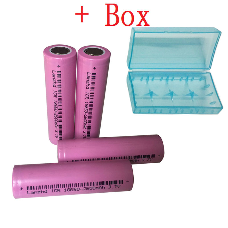 4pcs/lot 18650 betteries rechargeable Battery for LED Flashlight 100% Original 18650 ICR18650-26H 2600mAh Li-ion 3.7v Battery(China (Mainland))
