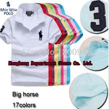 2015 großes Pferd marke polo shirt ralphly herrenhemden kurzarm casual-style masculina camisetas sportbekleidung für sport herrenhemden(China (Mainland))