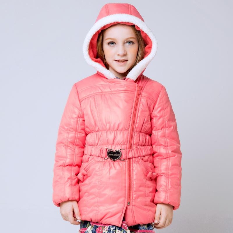 !2015 New Style,Fur Hooded Collar,Zipper Fly,Belt Design,Full Sleeve,Winter Long Coats,Girls Thick Outerwear 4C0566