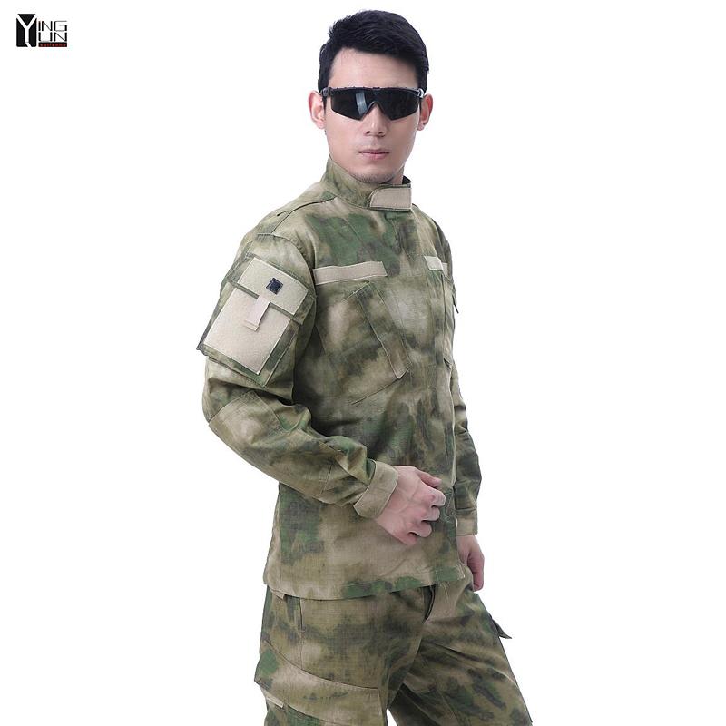 Free shipping Men camouflage set 2015 US advanced suit camouflage concealment A-TACS/FG ruins splashes of commando training suitÎäåæäà è àêñåññóàðû<br><br>