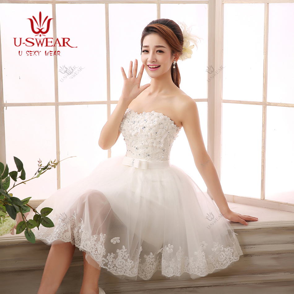 Short dress wedding promotion shop for promotional short for Short white wedding dresses under 100