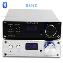 Fx - Audio D802C sans fil Bluetooth Version entrée USB / AUX / optique / Coaxial numérique pur amplificateur Audio 24Bit / 192 KHz 80 W + 80 W OLED(China (Mainland))