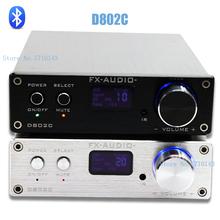 FX-Audio D802C Wireless Bluetooth Version Input USB/AUX/Optical/Coaxial Pure Digital Audio Amplifier 24Bit/192KHz 80W+80W OLED