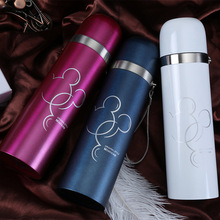 300/500ML Cartoon Mickey Water Bottle Cute Thermos Drinkware Stainless Steel Bullet Shape Portable Vacuum Flask Cup 1PC 5 Colors(China (Mainland))