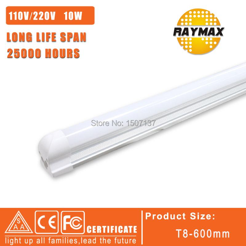 INTERGRATION LED TUBE T8 SMD2835 220V 10W LED LAMP 0.6M LED BULB 110V 220V LED TUBE T8 10PCS/LOT(China (Mainland))