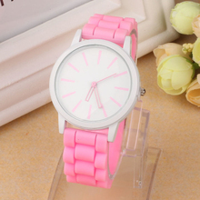 Excellent Quality Geneva Silicone Quartz Watch Women Jelly Sport Wristwatch Woman Dress Brand Watches Casual Watch for Gift