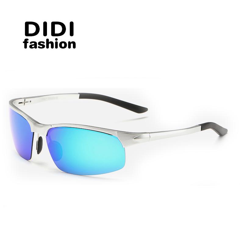 DIDI Cat Eye Multi Mens Polarized Sport Sunglasses Brand Designer Night Driving Glasses Military Goggles Oculos De Sol H255(China (Mainland))