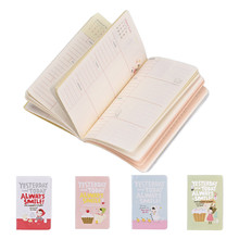 Cute Notebook Red Hat Girl Agenda Day Weekly Planner Diary notebook journal record stationery office School supplies sale(China (Mainland))