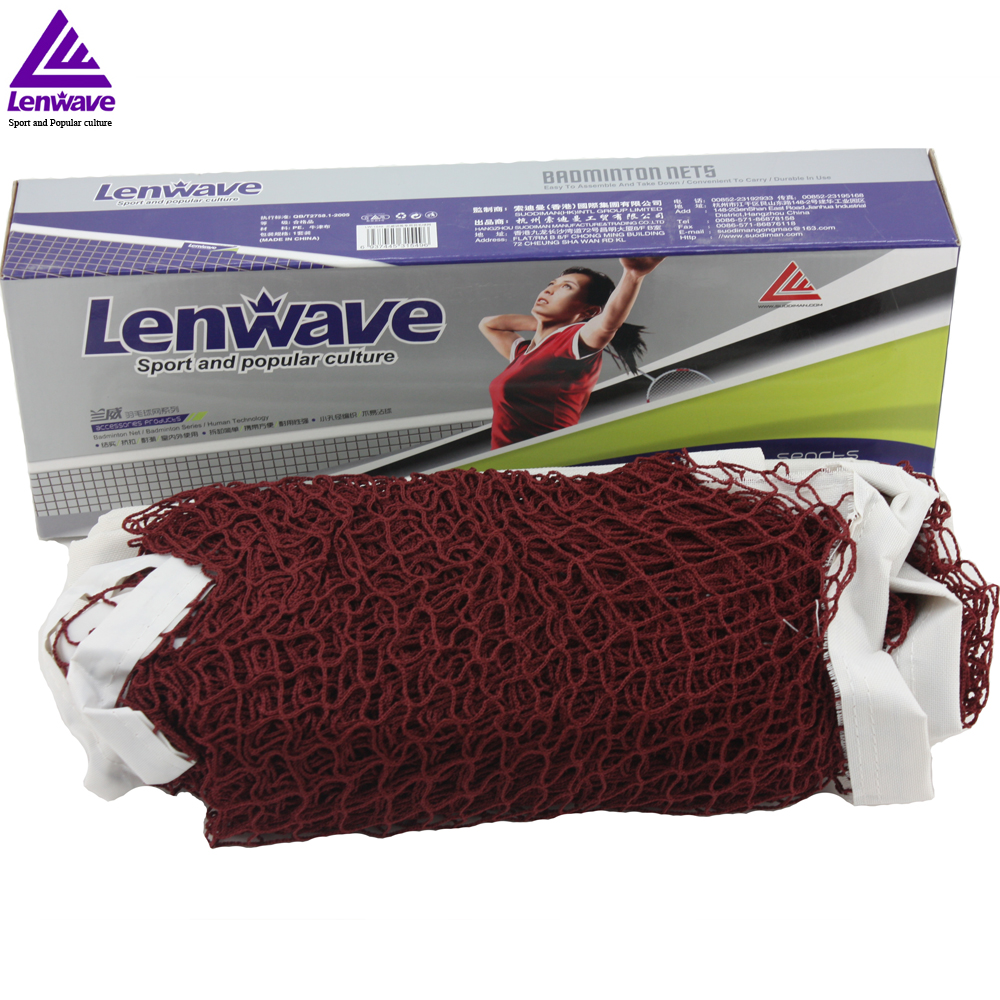 Free Shipping Lenwave Brand Indoor Outdoor Sports Training Net Standard Size Good 6m x 0.75m Badminton Net(China (Mainland))