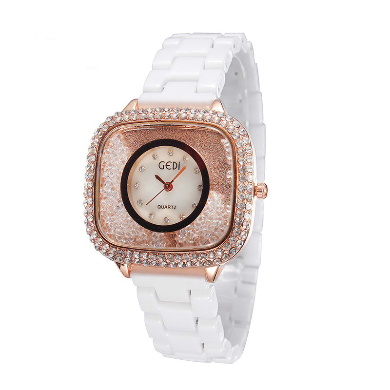 New Gedi Ladies Fashion Korea Fashion Full Diamond Luxury Watches Women  Armbanduhren Herren Watch Fashion<br><br>Aliexpress