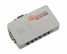 New arrival high quality PC TO TV VGA TO VIDEO converter Supports NTSC PAL PAL-M PAL-N, free shipping