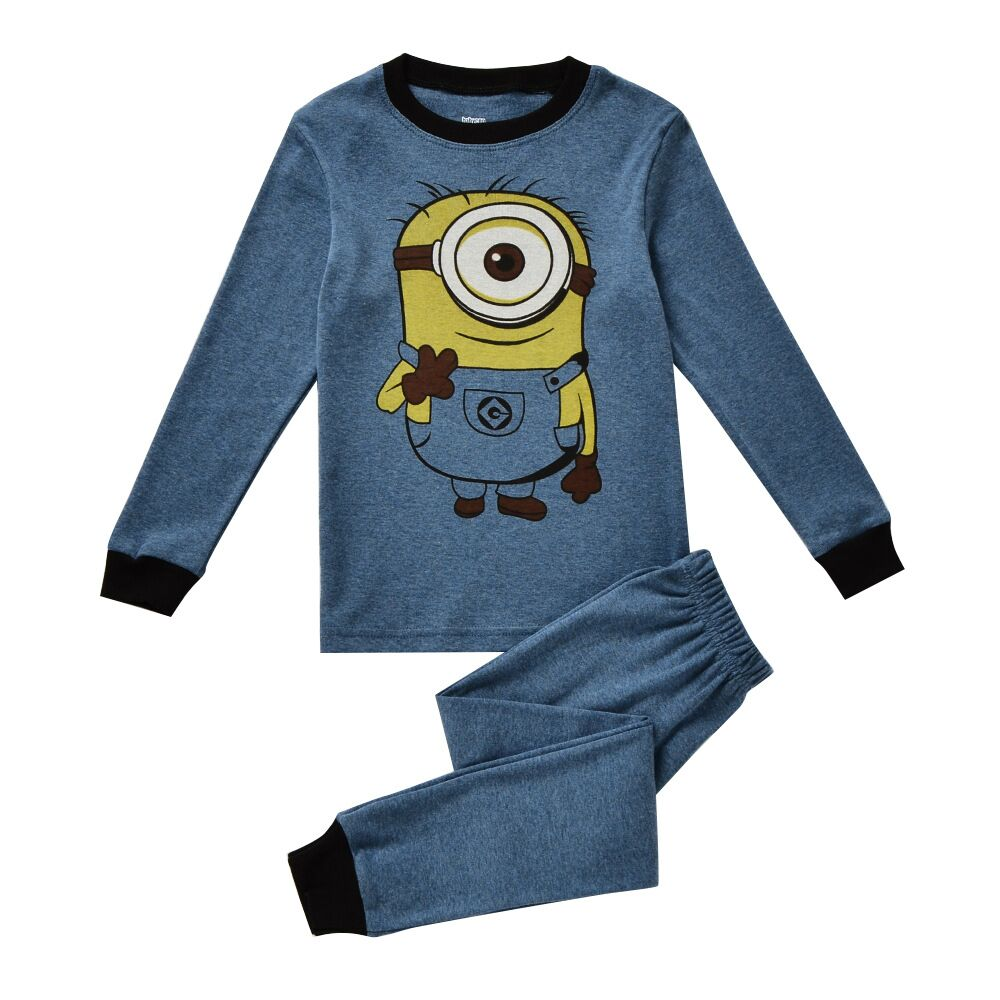 online get cheap t boys pajamas com alibaba group spring autumn kids baby girls boys pajama cartoon kids minions pajama set tops pants set