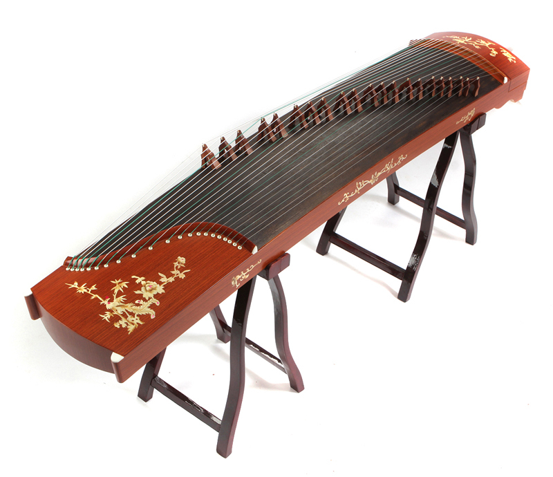 Senior red wood  playing guzheng Authentic Musical Instruments free shipping by EMS<br><br>Aliexpress