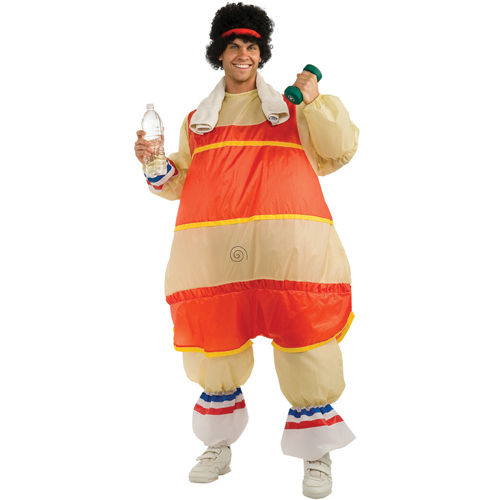 Halloween new item inflatable sportman costume party clothing for man(China (Mainland))