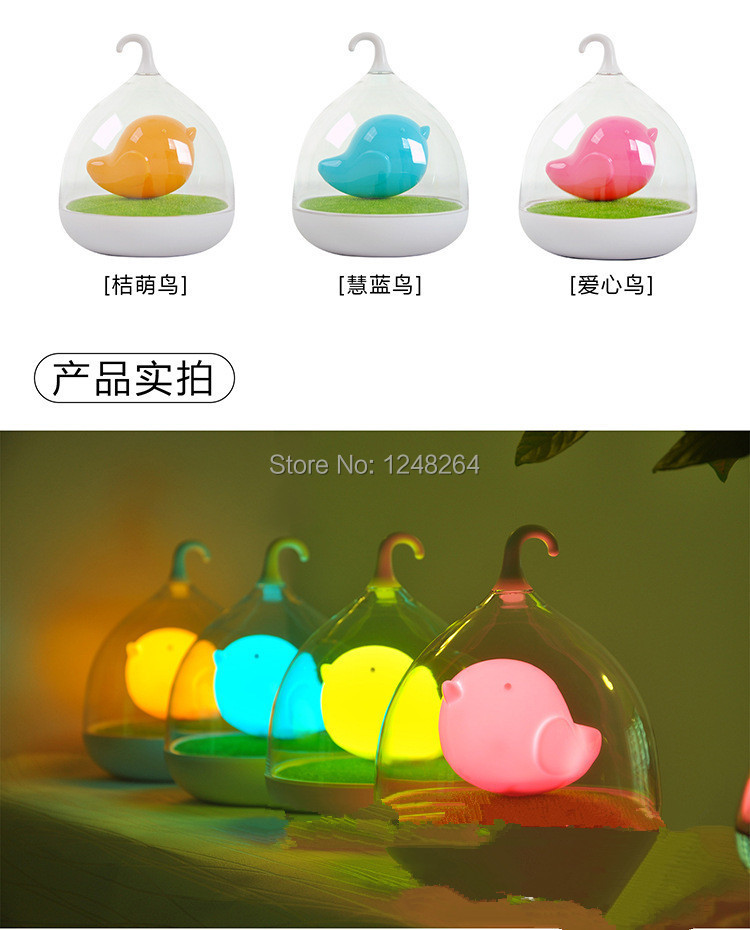 5V 0.5W Creative Dream birdcage lamps LED lamps charging Home Furnishing touch dimmer<br><br>Aliexpress