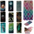 Lovely Fashion Colorful 20 Patterns Durable TPU Soft Case For Apple iphone 4S 5S 6 6S