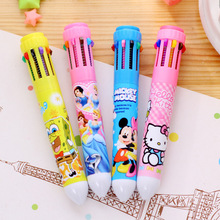 10 Colors Cute Cartoon Stationery Hello Kitty Ballpoint Pen Office School Supplies Pens for gifts(China (Mainland))