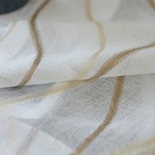 Полосатые тюлевые занавески для окна, занавески для гостиной, кухни, современные оконные занавески, вуаль, занавески 377 & 40(China)
