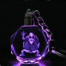 Good Quality Dragon Ball Z Super Saiyajin Son Goku Crystal Keychain LED Pendant(China (Mainland))