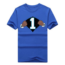 2016 Super hero Cam Newton #1 Panthers Football brand futbol Jersey Short Sleeve T Shirt Man cool print free shippping(China (Mainland))