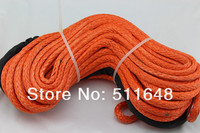 Free Shipping Super Power 12MM*30M 12 Strand UHMWPE Synthetic Winch Rope With Thimble