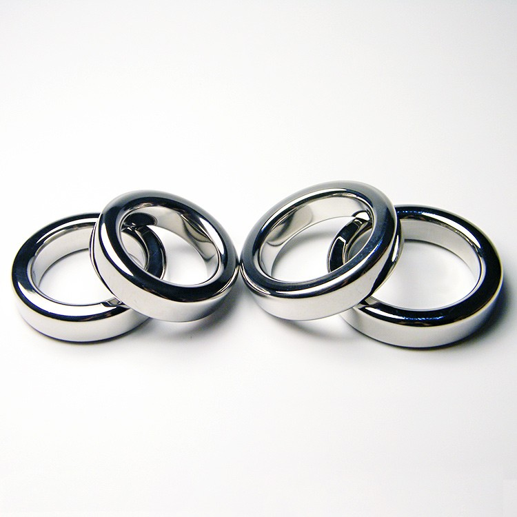Stainless Steel Cock Ring Round 404550mm Time Delay Cock Rings Male Sex Toys Penis Rings Erotic Sex Products1