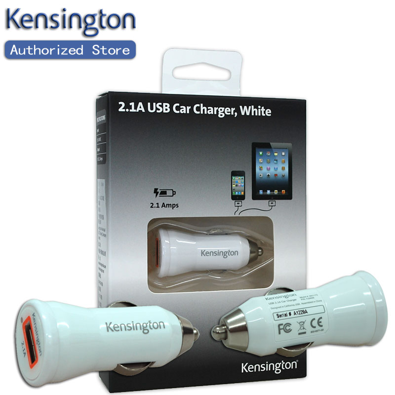 Kensington Original 2.1A USB Car Mobile Phone Charger CE/FCC/RoHS for iPhone for iPad for smartphone/tablet K39689(China (Mainland))
