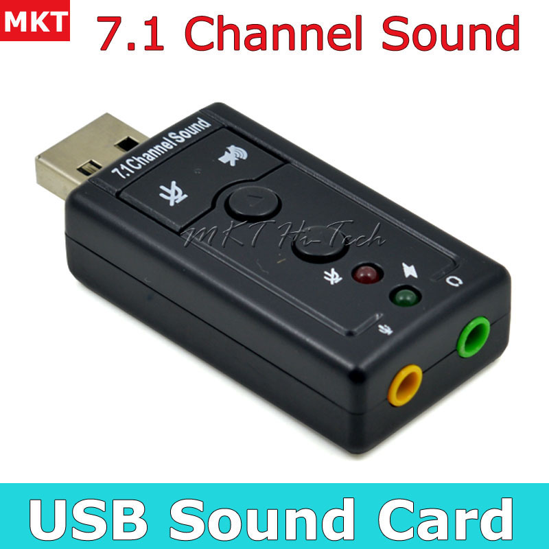 Professional External USB Sound Card Adapter Virtual 7.1 Channel 3D Audio with 3.5mm Headset Microphone for PC Desktop Laptop(China (Mainland))