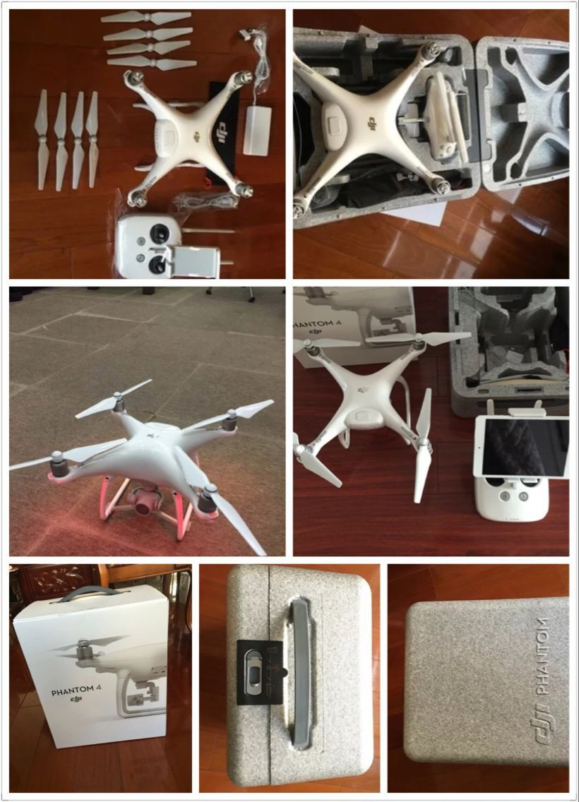 2016 New Released!In Stock DJI Phantom 4 Quadcopter with 4K Camera and 3-Axis Gimbal for Drones Photographer RC Plane