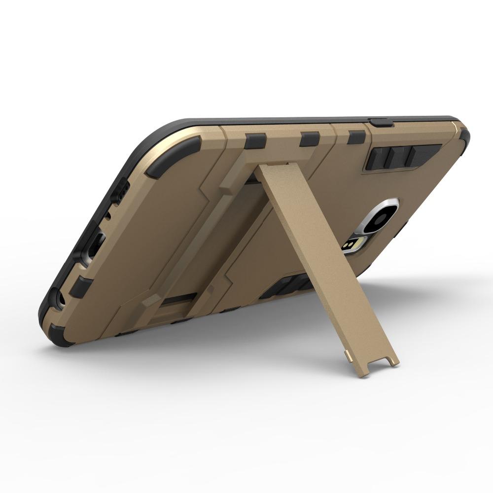 Luxury Doom Armor Dirt Shock Waterproof Metal Tpu+pc Cell Phone Case For Samsung S6(China (Mainland))