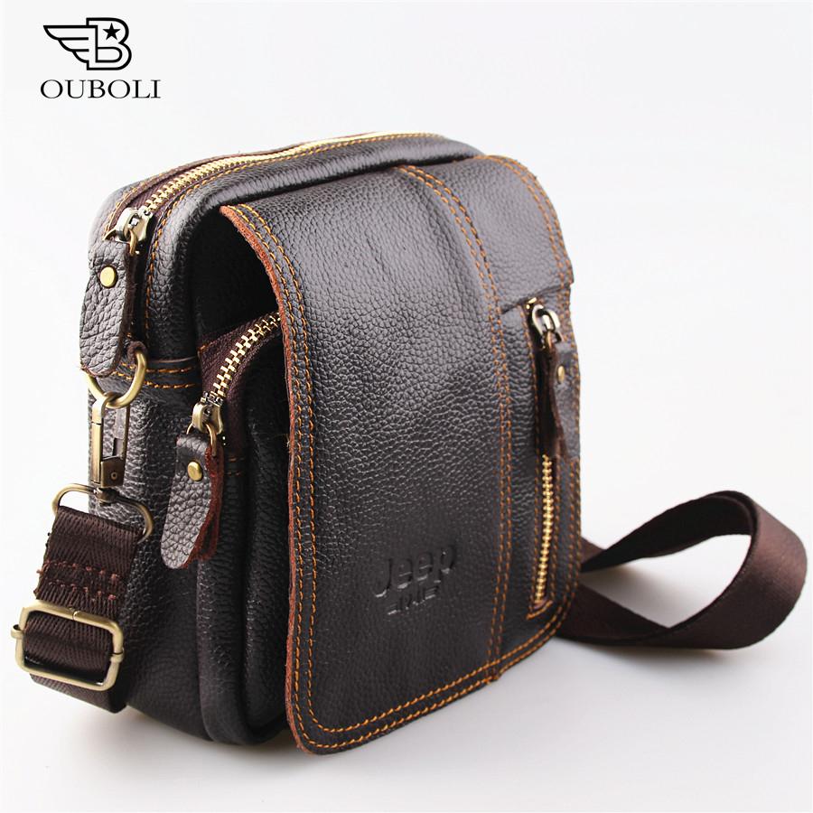 2016 new 100% genuine leather men bag fashion designer crossbody bags design men bag cowhide leather small messenger bag for man(China (Mainland))
